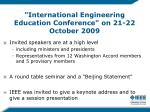 international engineering education conference on 21 22 october 2009