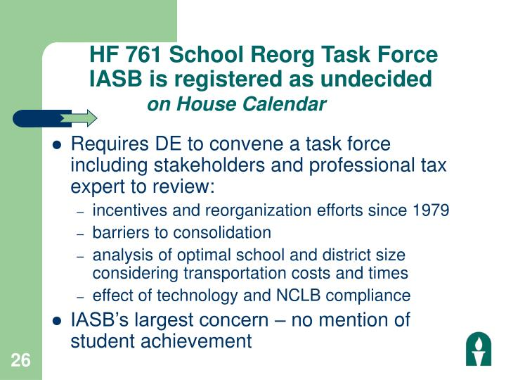 HF 761 School Reorg Task Force