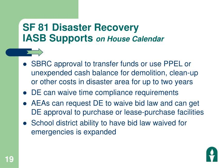 SF 81 Disaster Recovery