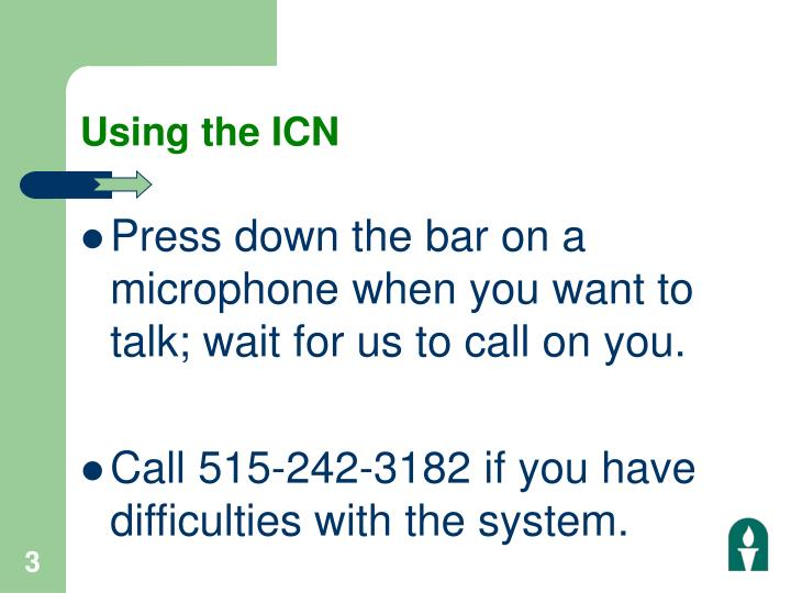 Using the icn