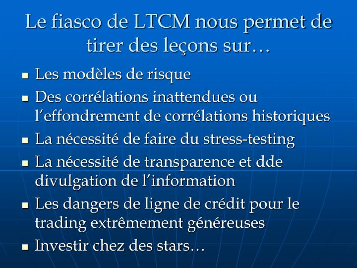 ltcm long term capital management Progress report on the role of communication in the collapse of long-term capital management joon baek, david bodin, chris fawcett, brandon seaman, & ryan standifer.
