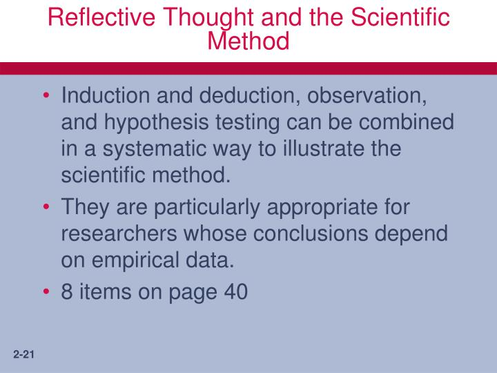 Reflective Thought and the Scientific Method
