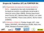 grupos de trabalhos gt do forprof ba1