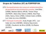 grupos de trabalhos gt do forprof ba2