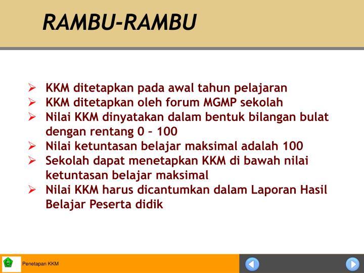 Rambu rambu