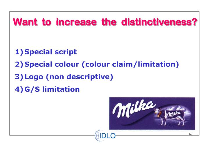 Want  to  increase  the  distinctiveness?