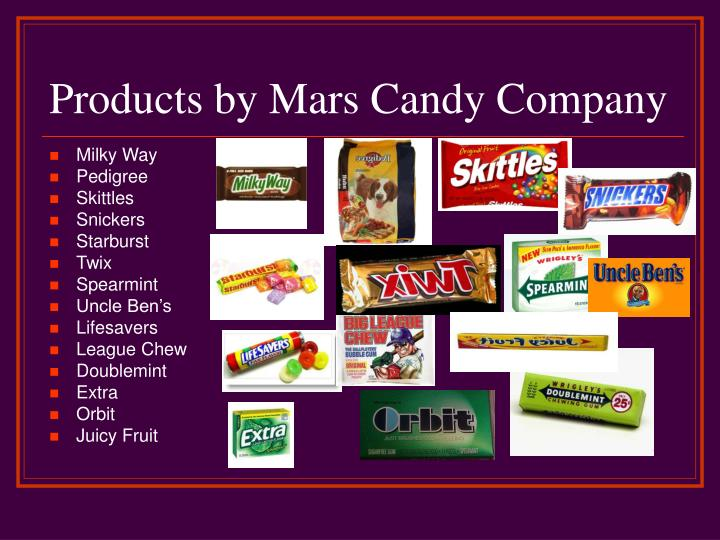 Products by Mars Candy Company