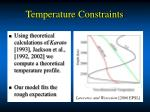 temperature constraints