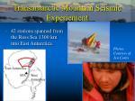 transantarctic mountain seismic experiement