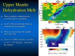 upper mantle dehydration melt