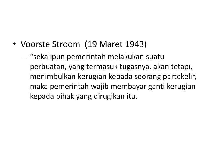 Voorste Stroom  (19 Maret 1943)