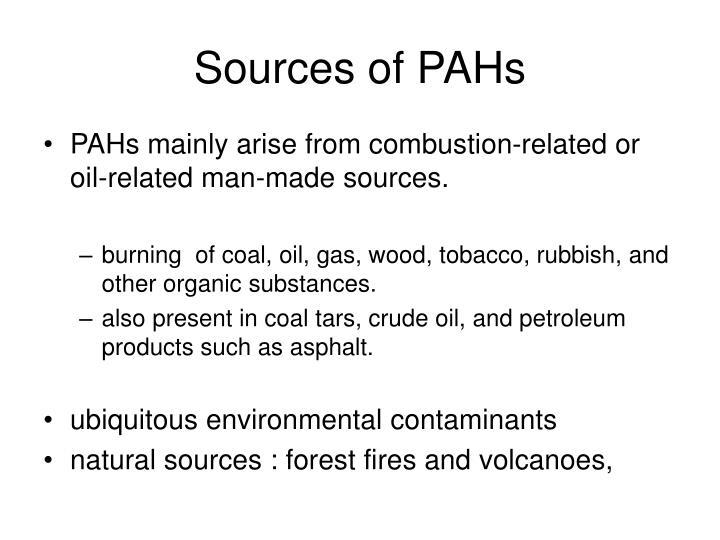 Sources of pahs