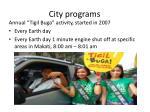 city programs