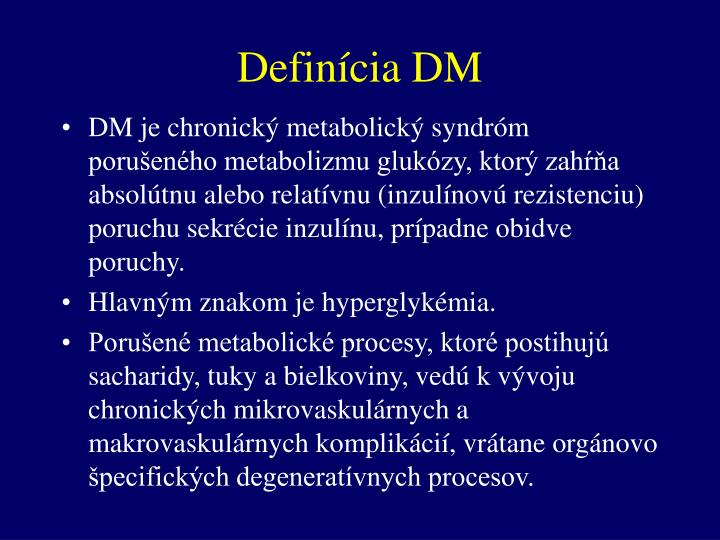 Definícia DM