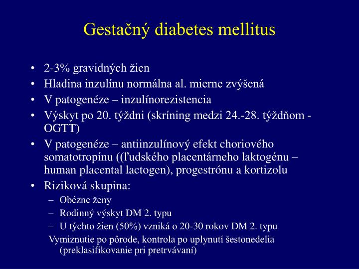 Gestačný diabetes mellitus