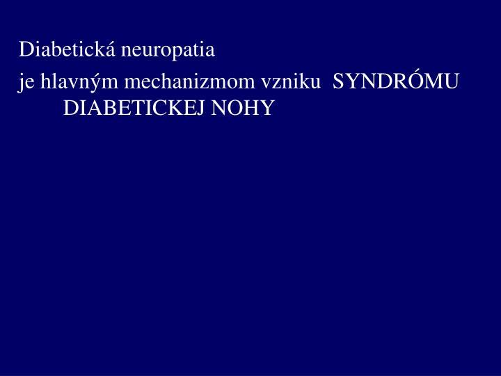 Diabetická neuropatia