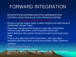 forward integration