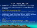 rentrenchment