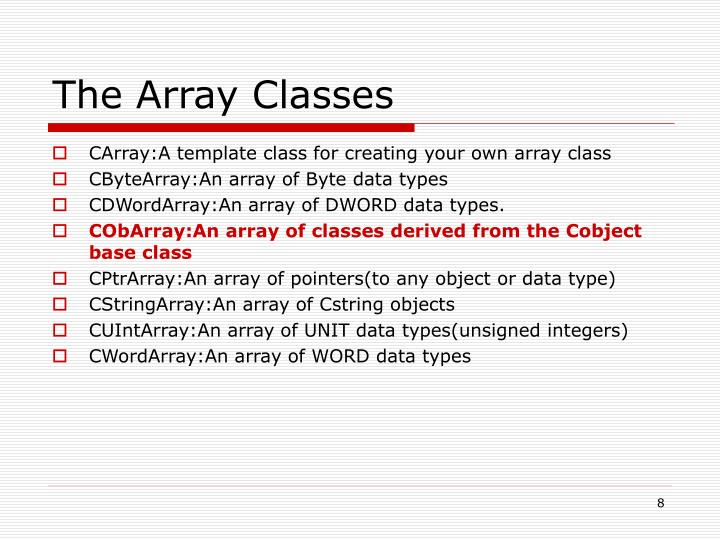 The Array Classes