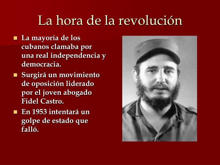 La hora de la revolución