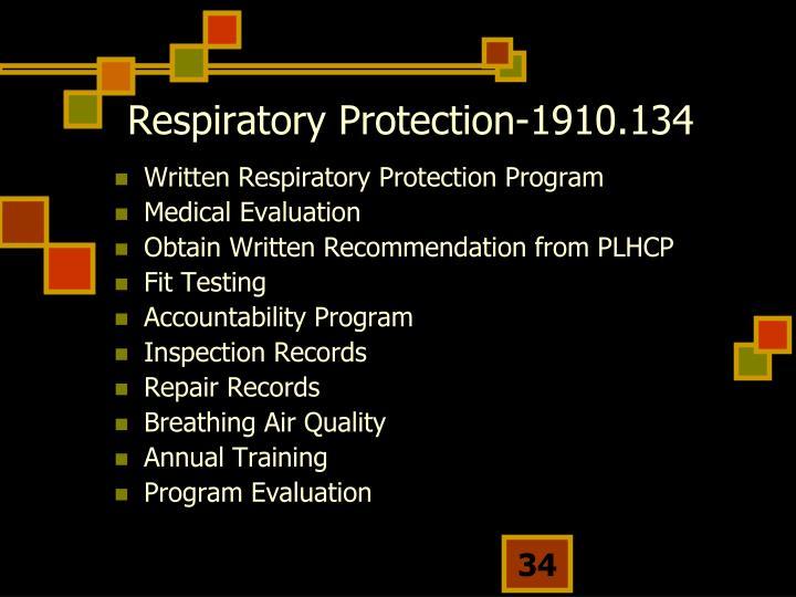 Respiratory Protection-1910.134