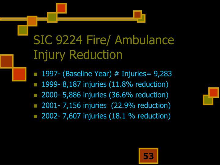 SIC 9224 Fire/ Ambulance