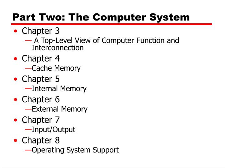 part two the computer system n.