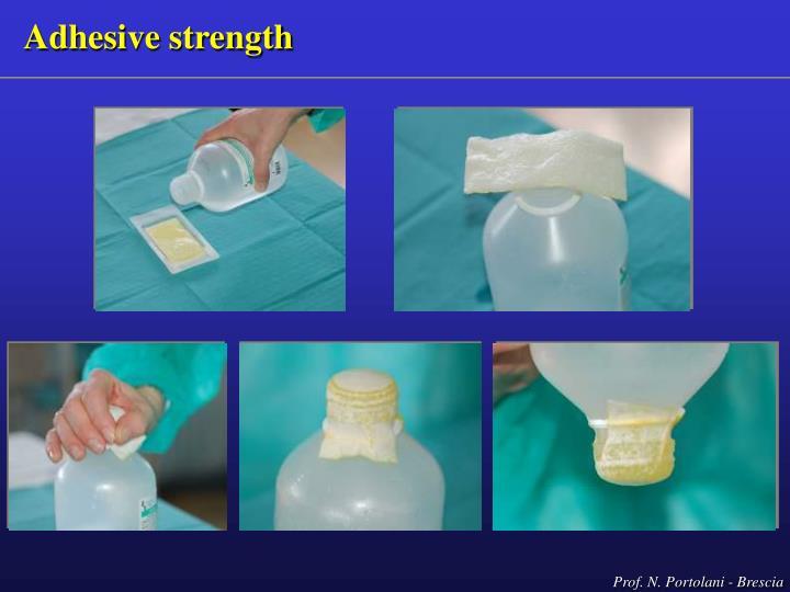 Adhesive strength