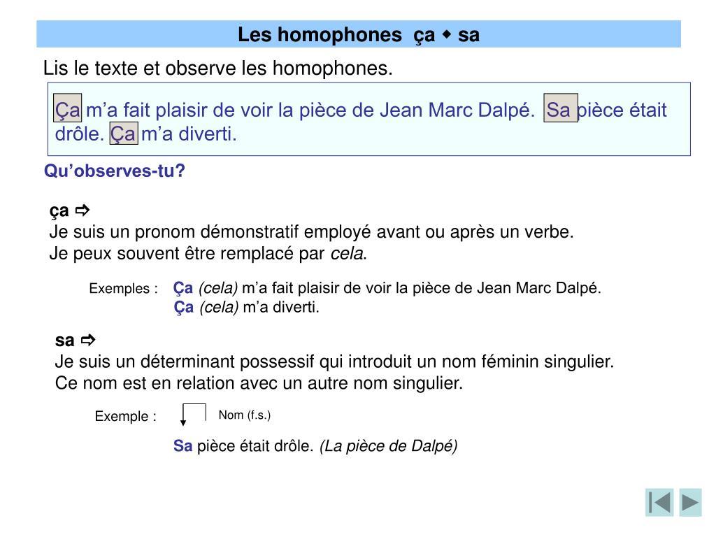 PPT - Les homophones PowerPoint Presentation, free ...