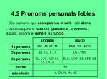 4 2 pronoms personals febles