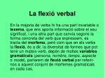 la flexi verbal