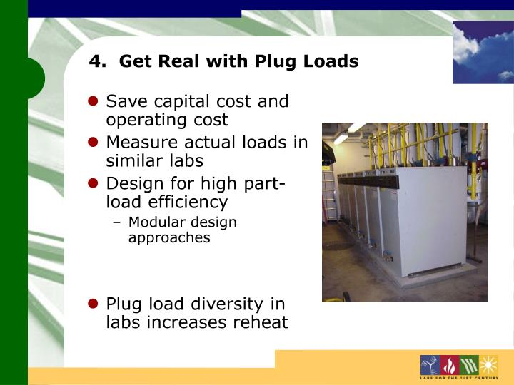 4.  Get Real with Plug Loads