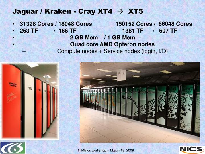 Jaguar / Kraken - Cray XT4