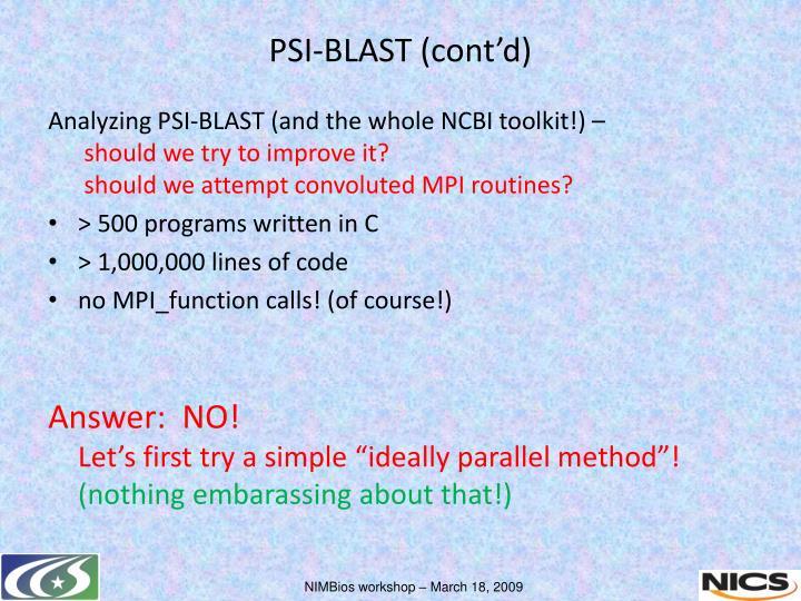 Analyzing PSI-BLAST (and the whole NCBI toolkit!) –