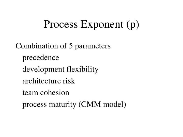 Process exponent p
