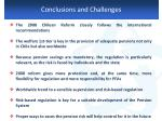 conclusions and challenges