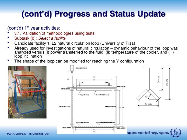 (cont'd) Progress and Status Update