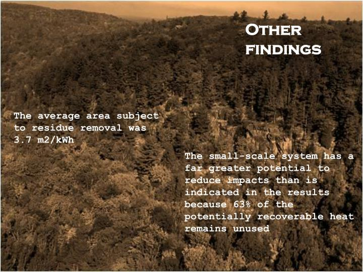 Other findings