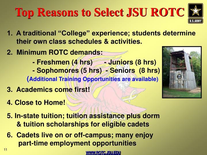 Top Reasons to Select JSU ROTC