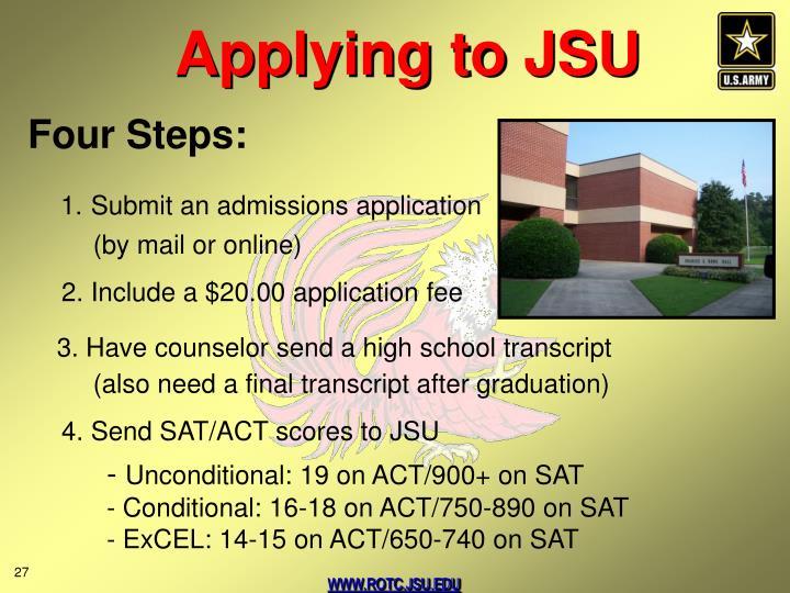 Applying to JSU