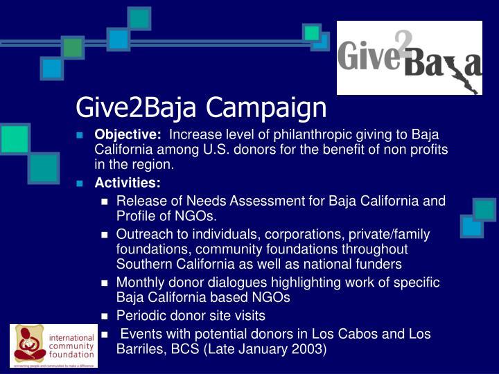 Give2Baja Campaign