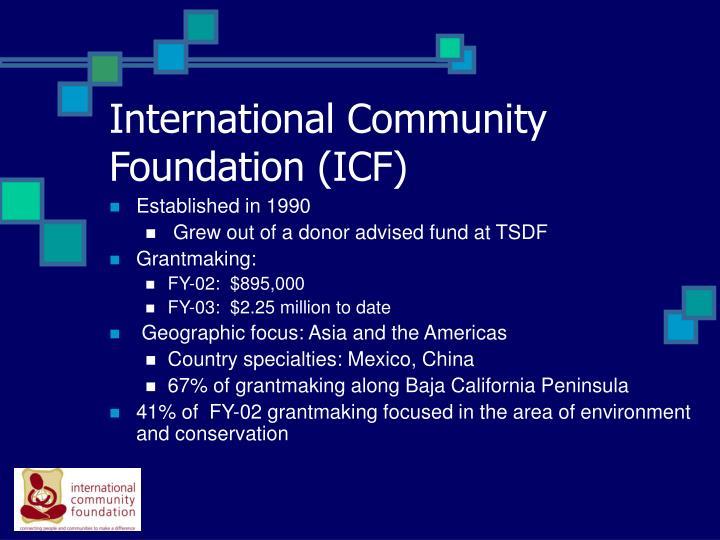 International community foundation icf