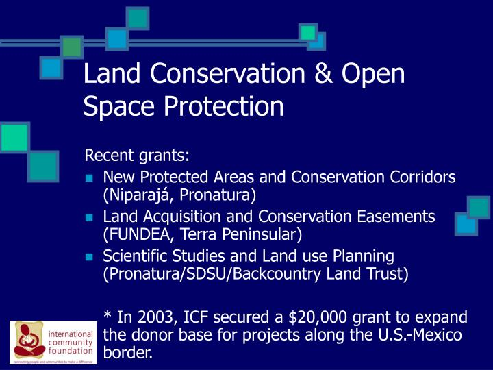Land Conservation & Open Space Protection
