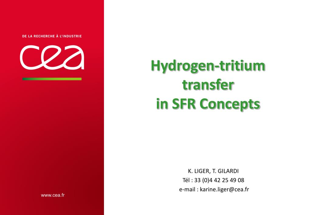 Ppt Hydrogen Tritium Transfer In Sfr Concepts Powerpoint