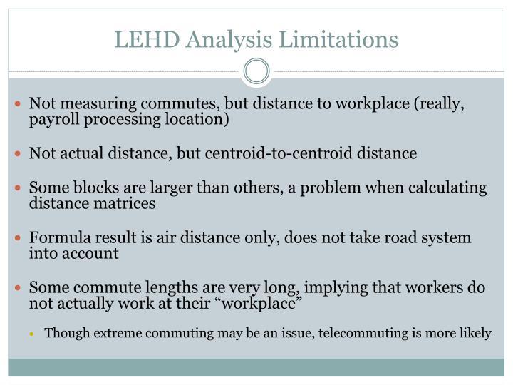 LEHD Analysis Limitations