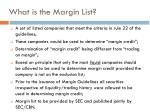 what is the margin list