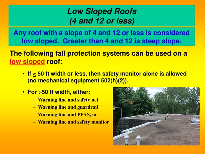 Low Sloped Roofs