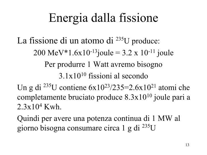 Energia dalla fissione