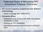 federated states of micronesia hfc amendment proposal differences