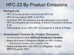 hfc 23 by product emissions
